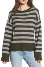 Women's Rebecca Minkoff Margo Stripe Cashmere Sweater, Size - Green