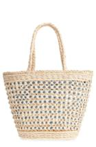 Nordstrom Woven Straw Tote - Brown
