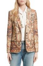 Women's Frame Persian Classic Blazer - Pink