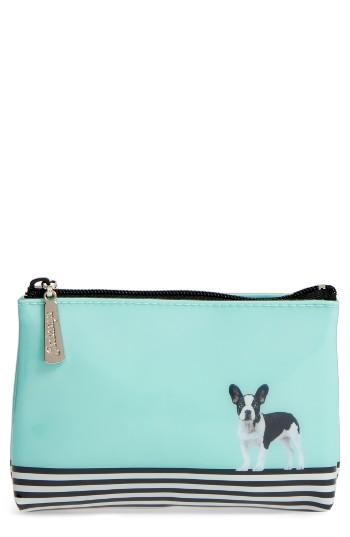 Catseye London Dog On Stripe Zip Pouch