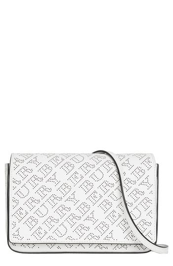 Women's Burberry Hampshire Perforated Leather Crossbody Bag -
