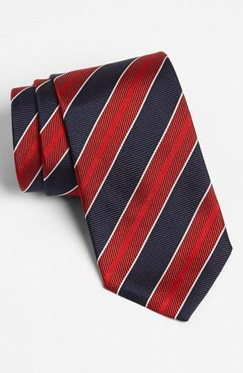 Boss Hugo Boss Woven Silk Tie Blue/ Red