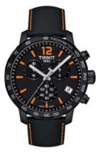 Men's Tissot Quickster Chronograph Leather Strap Watch, 42mm