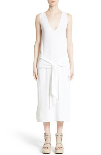 Women's Rag & Bone Michelle Cotton Sweater Dress, Size - White