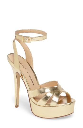 Women's Chinese Laundry Alyssa Strappy Platform Sandal M - Metallic