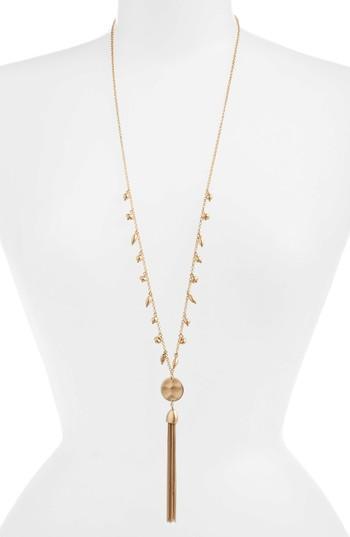 Women's Treasure & Bond Disc Tassel Pendant Necklace