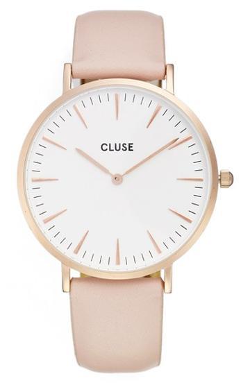 Women's Cluse 'la Boheme' Leather Strap Watch, 38mm