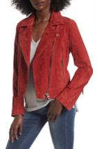 Women's Blanknyc Suede Moto Jacket - Red