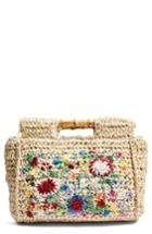 Topshop Brody Embroidered Tote - Beige