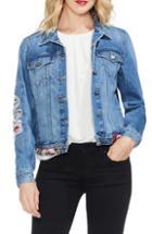 Women's Vince Camuto Velvet Scuba Moto Jacket