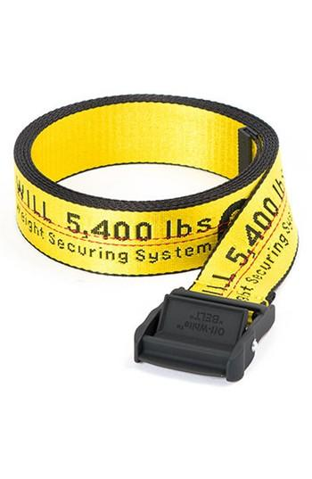 Women's Off-white Classic Industrial Belt, Size - Yellow Black