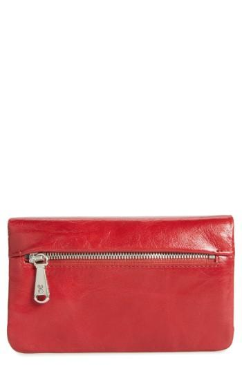 Women's Hobo West Calfskin Leather Wallet - Red