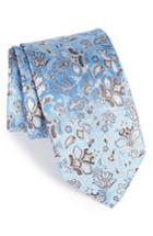 Men's Eton Floral Print Silk Tie