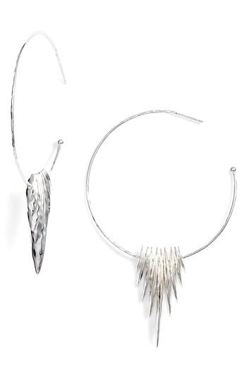 Women's Gorjana Nora Hammered Shard Hoop Earrings