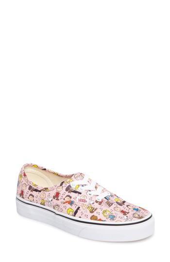 Women's Vans X Peanuts Woodstock Authentic Sneaker .5 M - Pink