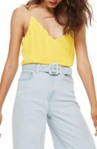 Women's Topshop Scallop Camisole Us (fits Like 0) - Yellow