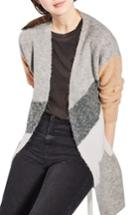 Women's Topshop Diagonal Colorblock Cardigan