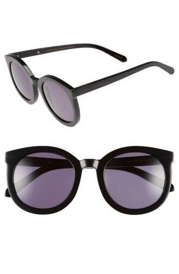 Women's Karen Walker Super Duper Strength 55mm Sunglasses - Black
