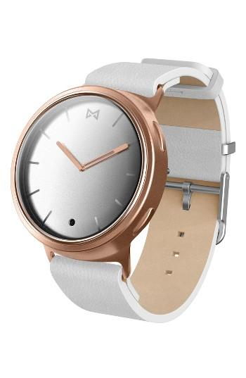 Women's Misfit Phase Leather Strap Smart Watch, 40mm