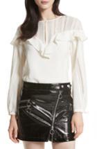 Women's Rebecca Minkoff Sylvia Ruffle Top, Size - White
