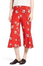 Women's Lysse Quin Flare Crop Leggings - Red