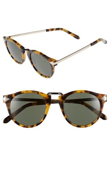 Women's Karen Walker 'helter Skelter' 48mm Retro Sunglasses - Crazy Tortoise