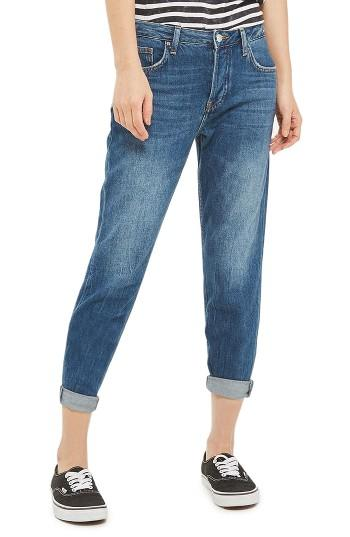 Petite Women's Topshop Hayden Boyfriend Jeans X 28 - Blue