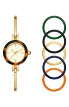 Women's Tory Burch Gigi Bangle Bracelet Watch Set, 28mm