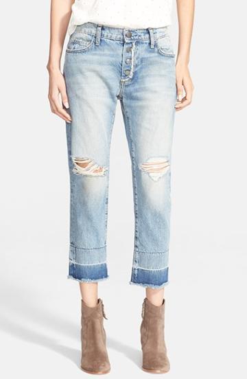 Women's Current/elliott 'the Fling' Released Hem Crop Jeans (knife