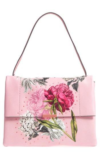 Ted Baker London Peonii Palace Gardens Leather Shoulder Bag - Pink