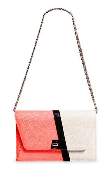 Women's Akris Anouk Colorblock Leather Wallet On A Chain -