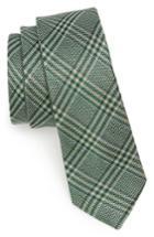 Men's The Tie Bar Columbus Plaid Linen & Silk Tie, Size - Green