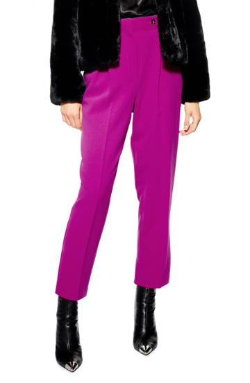 Petite Women's Topshop Betty Peg Trousers P Us (fits Like 00p) - Pink