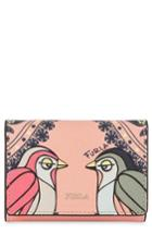 Women's Furla Babylon Saffiano Leather Trifold Wallet - Pink