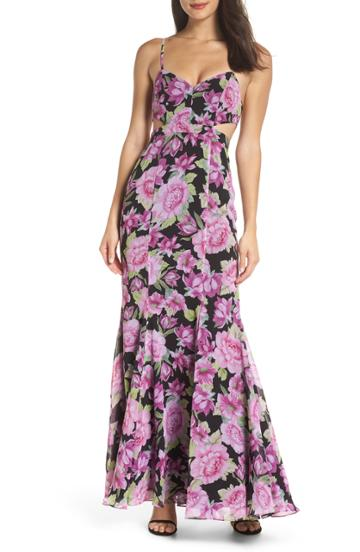 Women's Fame And Partners The Sienne Cutout Waist Gown