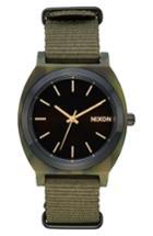 Women's Nixon Time Teller Bracelet Nato Strap Watch, 40mm