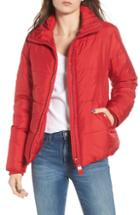 Women's Maralyn & Me Shiny Crop Puffer Jacket
