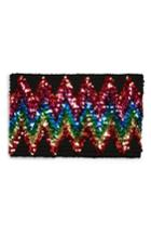 Women's Topshop Rainbow Sequin Bandeau Top - Black
