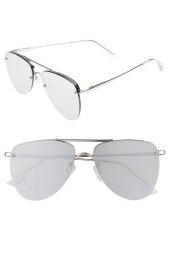 Women's Le Specs The Prince 57mm Aviator Sunglasses - Silver