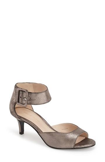 Women's Pelle Moda 'berlin' Sandal .5 M - Grey