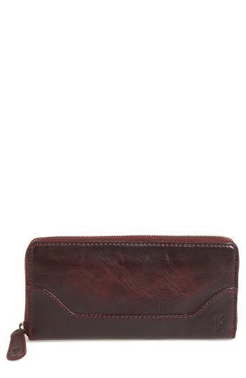 Women's Frye Melissa Leather Wallet - Burgundy