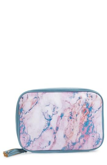 Violet Ray New York Large Hanging Makeup Bag, Size - Marble