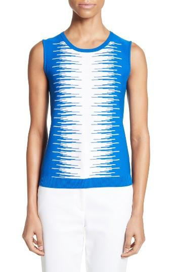Women's St. John Collection Stripe Intarsia Knit Shell