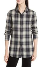 Women's Vince Tartan Plaid Oversize Shirt
