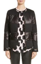 Women's St. John Collection Reversible Dot Print Matte & Shiny Jacket