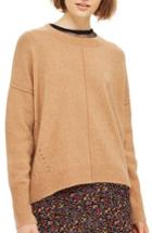Women's Topshop Pointelle Detail Sweater Us (fits Like 0) - Beige