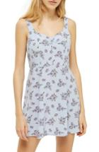 Women's Topshop Floral Sundress Us (fits Like 0) - Blue