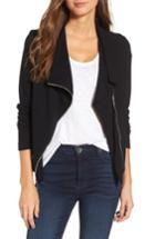 Women's Karen Kane Knit Moto Jacket - Black