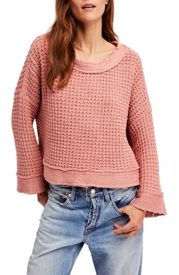 Women's Free People Maybe Baby Bell Sleeve Sweater - Pink