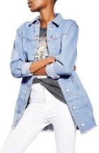 Women's Topshop Colorblock Denim Jacket